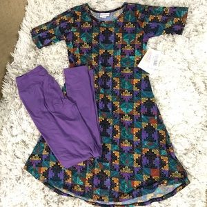 NWT LuLaRoe dress & leggings